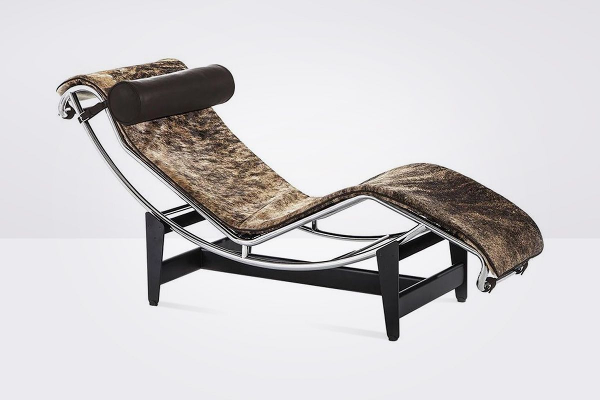 Cassina Lc4 Pampas Chaise Lounge Pad In Pampas Hair Brown Leather Headroll Cassina Cassina Furniture Furniture