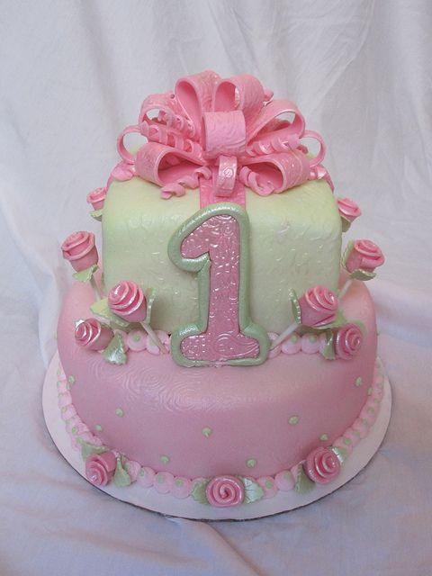 1st First Birthday Cake Girl Birthday Ideas Pinterest Cake