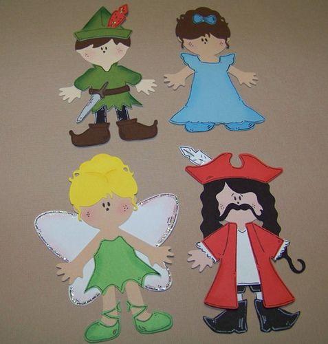 peter pan cricut paper dolls kid crafts pinterest basteln mit kindern basteln und kind. Black Bedroom Furniture Sets. Home Design Ideas