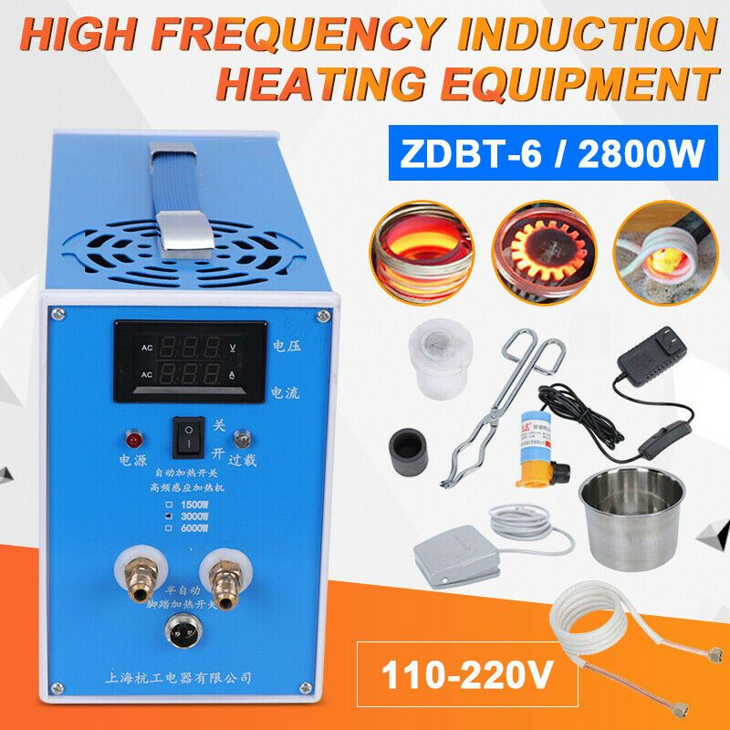 Ebay Sponsored 2800w Zvs Induction Heater Metal Induction Heating