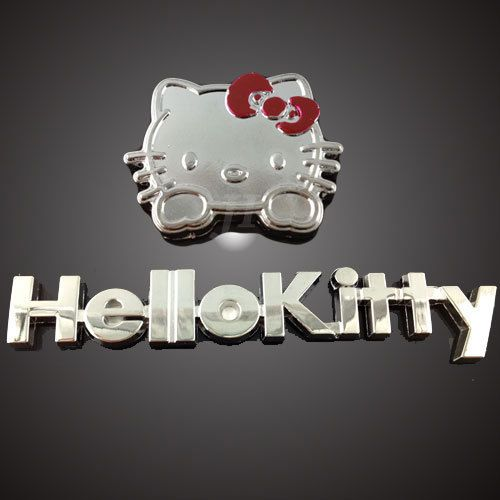 New Car Decor D Decal Emblem Metal Hello Kitty With Letter Auto - Letter stickers for cars