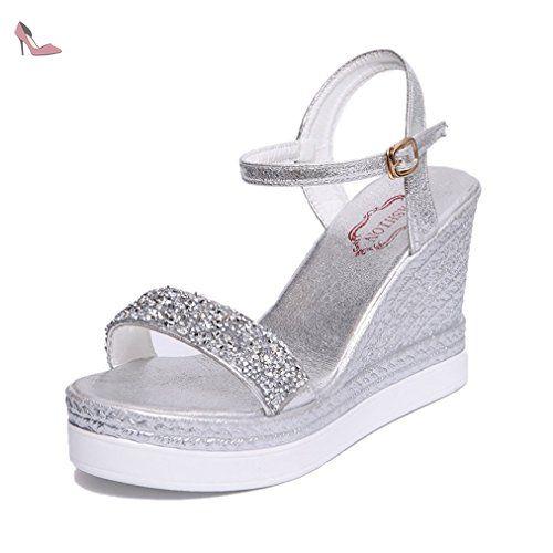 chaussure mode sandale mule plateforme femme talon compens plateforme strass paillette courant. Black Bedroom Furniture Sets. Home Design Ideas
