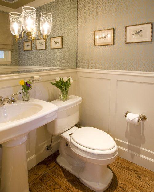 Small Baths with Big Impact Wainscoting Bath and Powder room