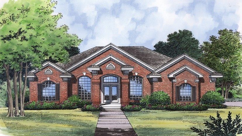 Home Plan HOMEPW77365 - 2140 Square Foot, 4 Bedroom 3 Bathroom Traditional Home with 2 Garage Bays | Homeplans.com