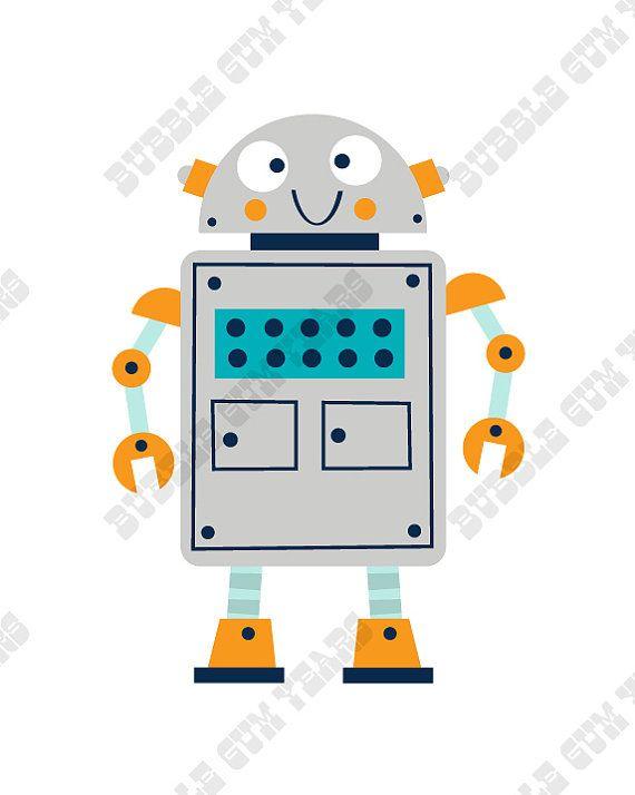 Kinder Slaapkamer Set.Robot Nursery Prints Robot Print Set Boys Robot Print Set Robot