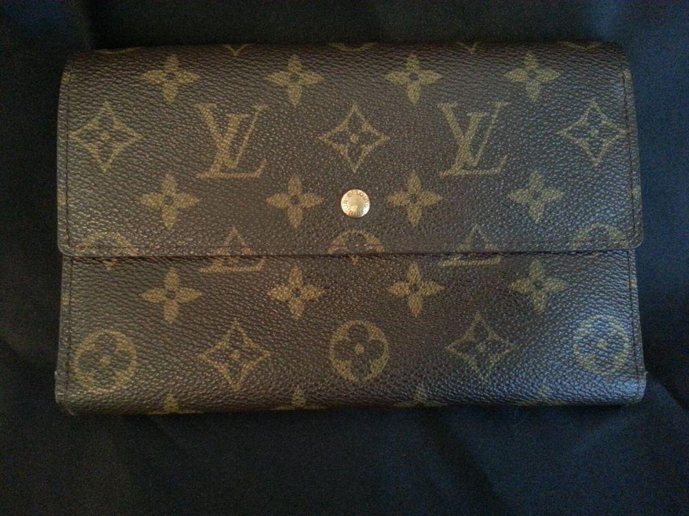 Louis Vuitton Monogram Papier Wallet Purse Envelope Clutch M61202 Vintage Louis Vuitton Monogram Purse Wallet Louis Vuitton