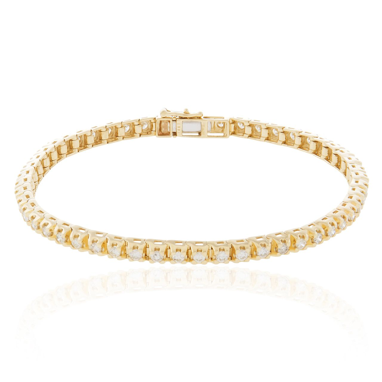 K yellow gold ct diamond tennis bracelet pinterest tennis