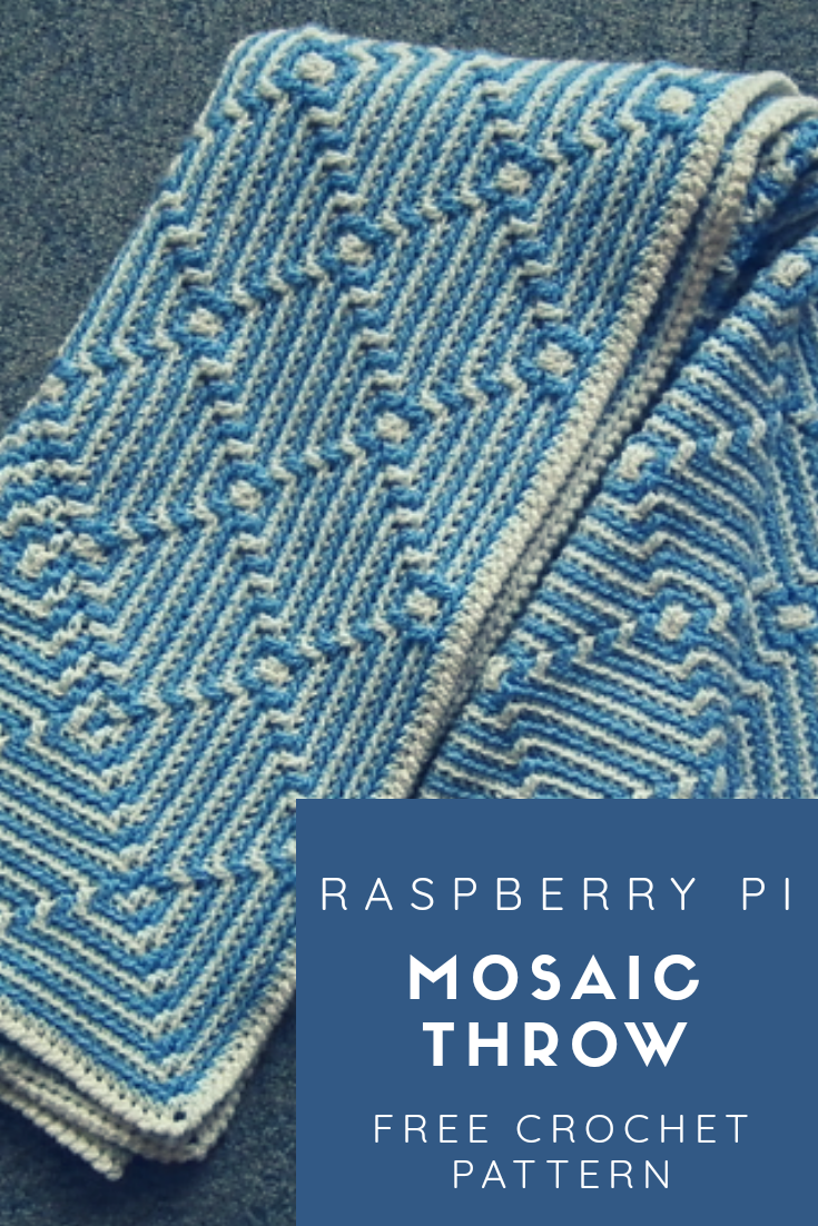 Raspberry Pi Mosaic Throw - Free Crochet Pattern | Afghan Crochet ...