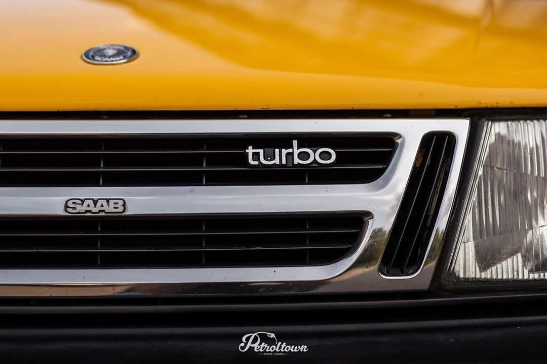 saab 900 turbo grill emblem