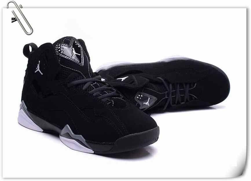 Nike Jordan True Flight GS (343795-010) BLK SLIVE.WHT Jordan 57473abc7