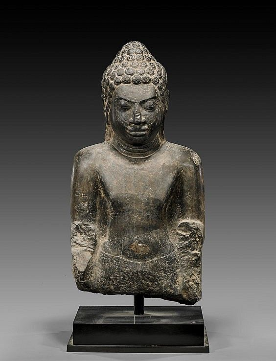 "Dvaravati limestone image of Buddha 7-8th century 25"" tall ..."
