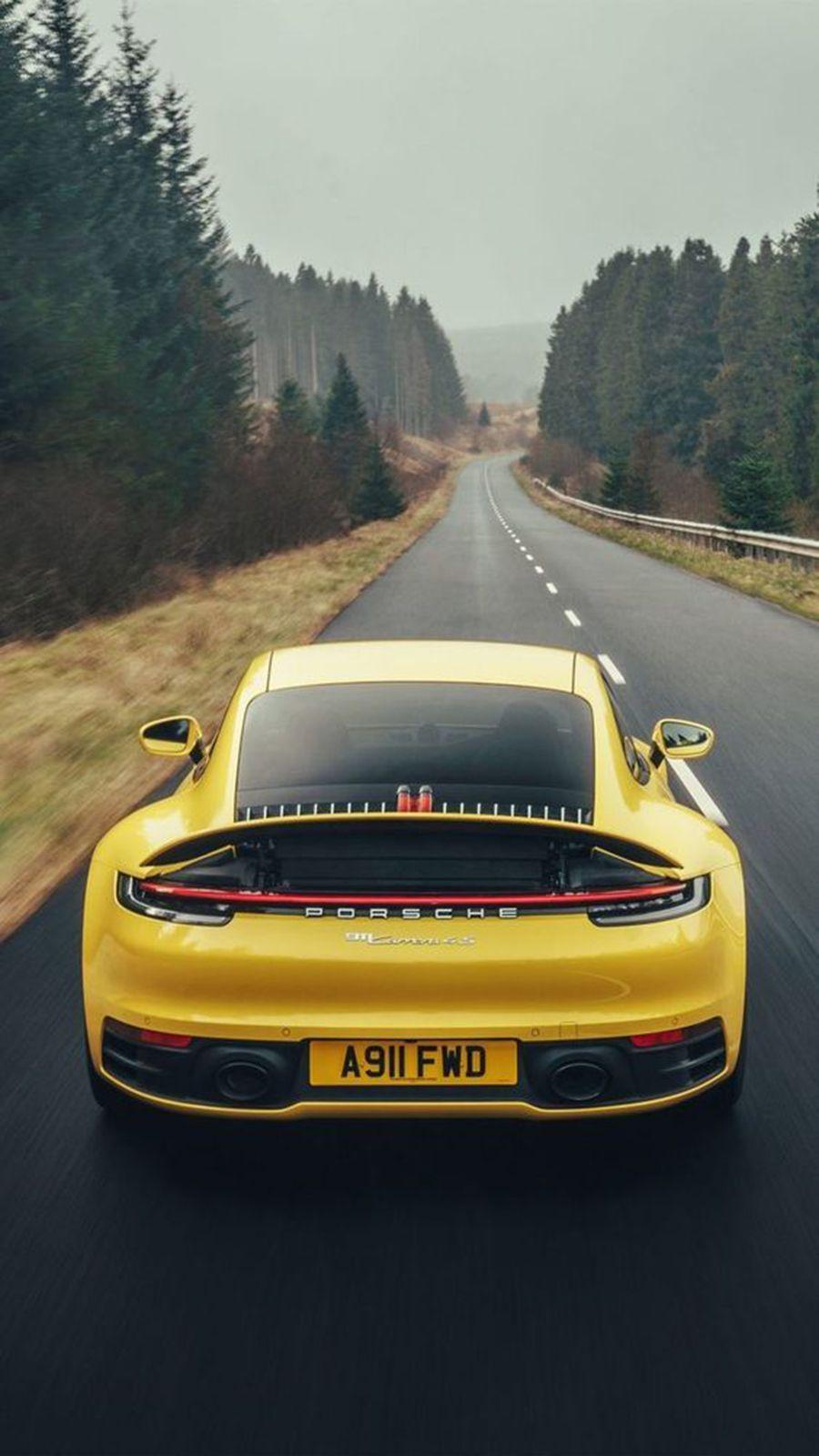 Back View Supercars Hd Wallpapers Free Download Bestwallpapers Porsche 911 Carrera 4s Luxury Car Photos Porsche
