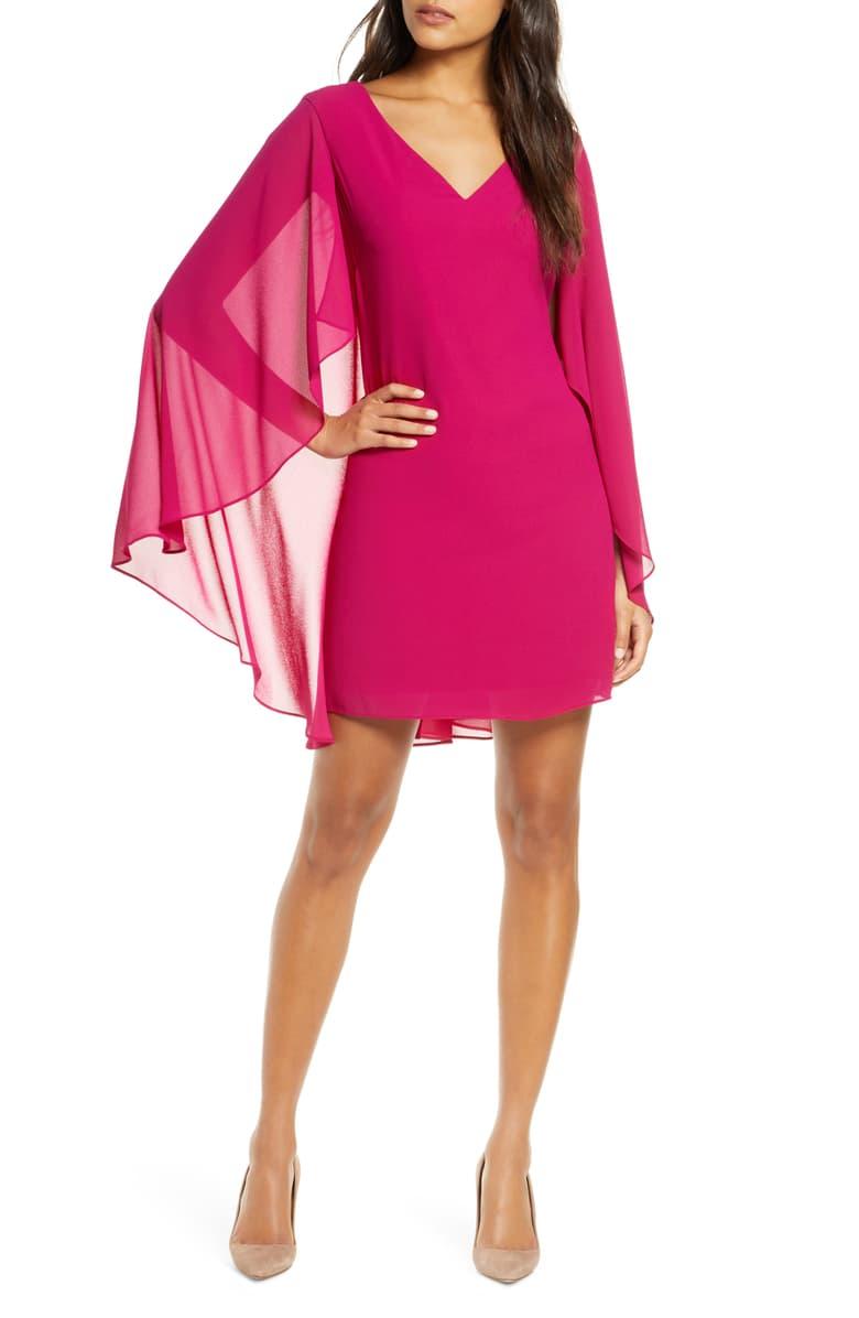 Vince Camuto Cape Back Shift Dress Nordstrom Shift Dress Fashion Clothes Women Fashion For Petite Women [ 1196 x 780 Pixel ]