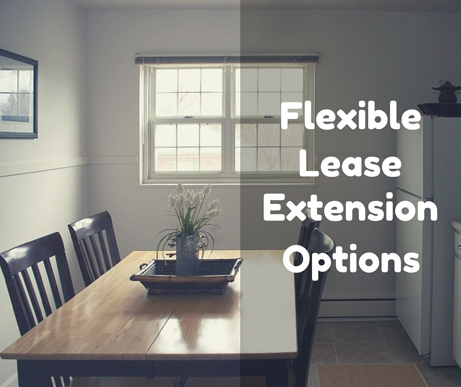 Flexible Lease Extensions - Need a lease for more than 12 months - lease extension agreement