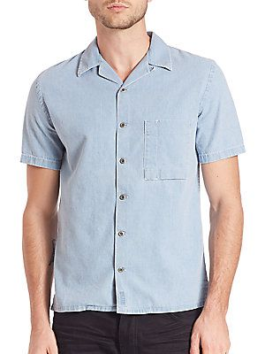 Nudie Jeans Brandon Organic Cotton Denim Shirt