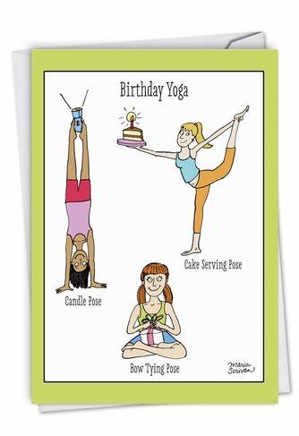 Birthday Yoga Posing Exercise Cartoons Birthday Greeting ...