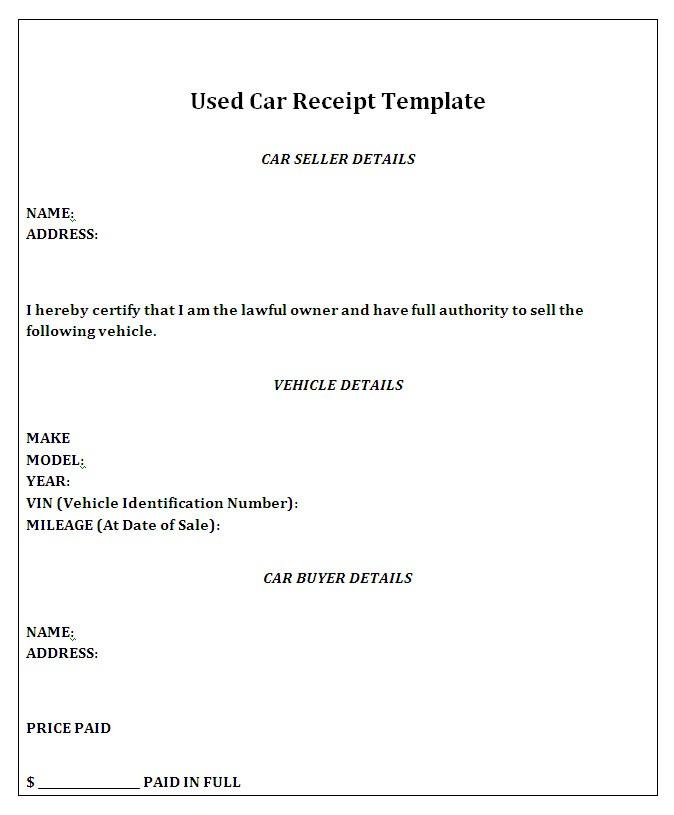 Private Car Sale Receipt Template Free Template Examples Receipt Template Invoice Template Word Invoice Template