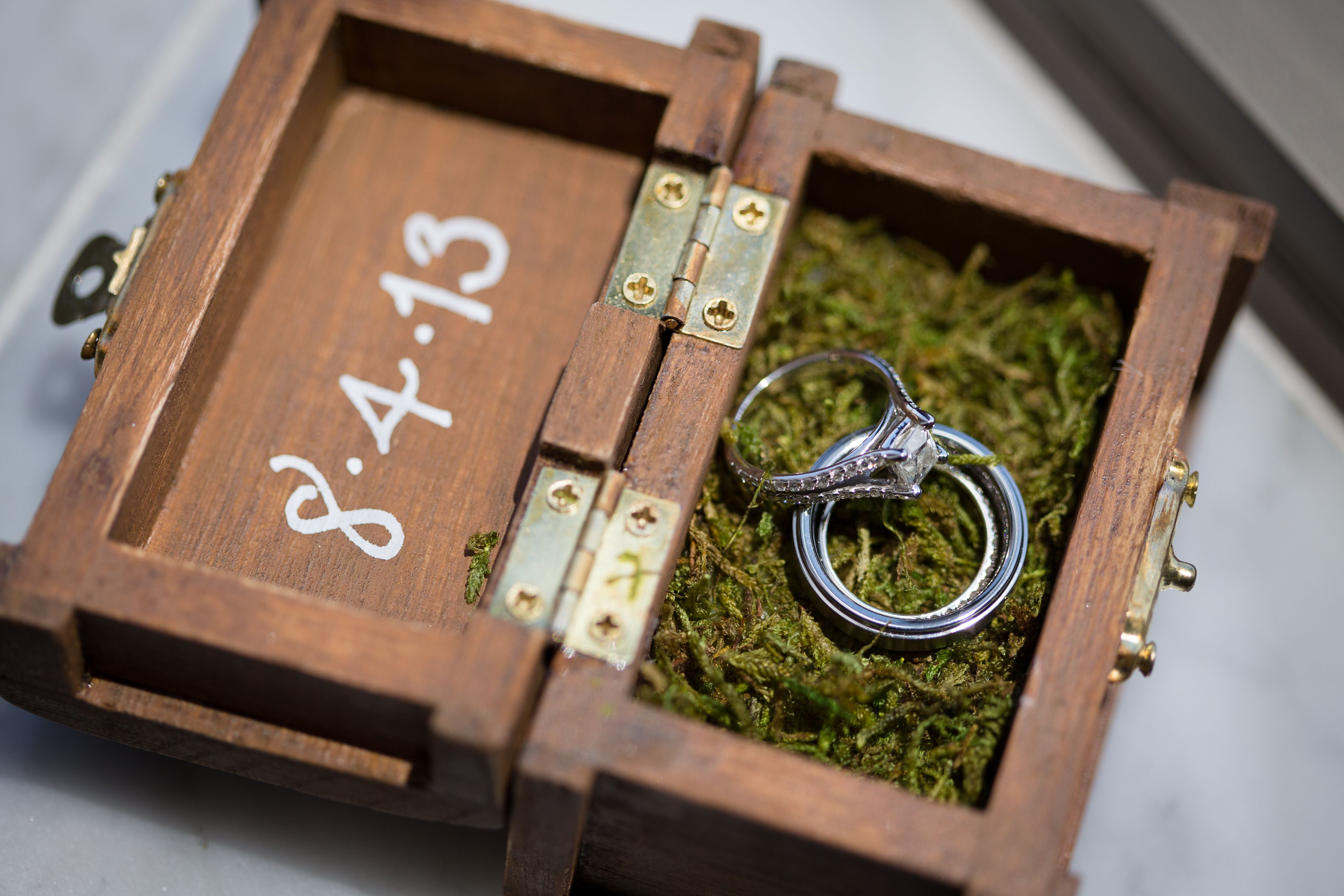 Wedding Ring Box Diy Cute Wood Box Sand Paper Wood Stain Paint