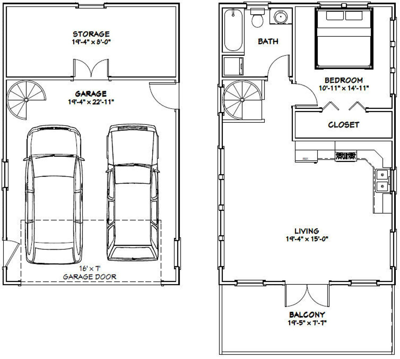 20x32 House 1 Bedroom 1 Bath 785 sq ft PDF Floor