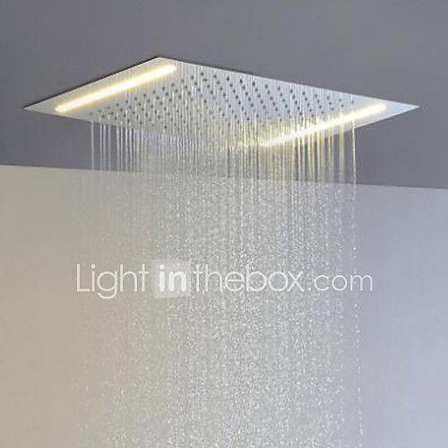 Stainless Steel 304 110V~220V Alternating Current Bathroom Rainfall Shower Head With Energy Saving LED Lamps 2017 - €266.31