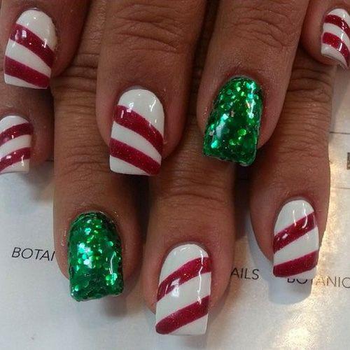 Best Christmas Nails for 2017 - 64 Trending Christmas Nail Designs |  Makeup, Nail nail and Xmas nails - Best Christmas Nails For 2017 - 64 Trending Christmas Nail Designs