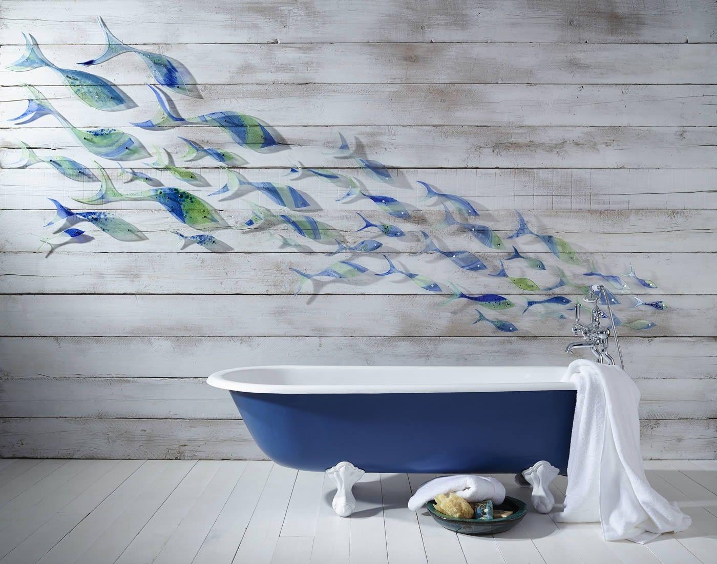 Bespoke Commissions Jo Downs Handmade Glass Droombadkamer Wandbekleding Wanden