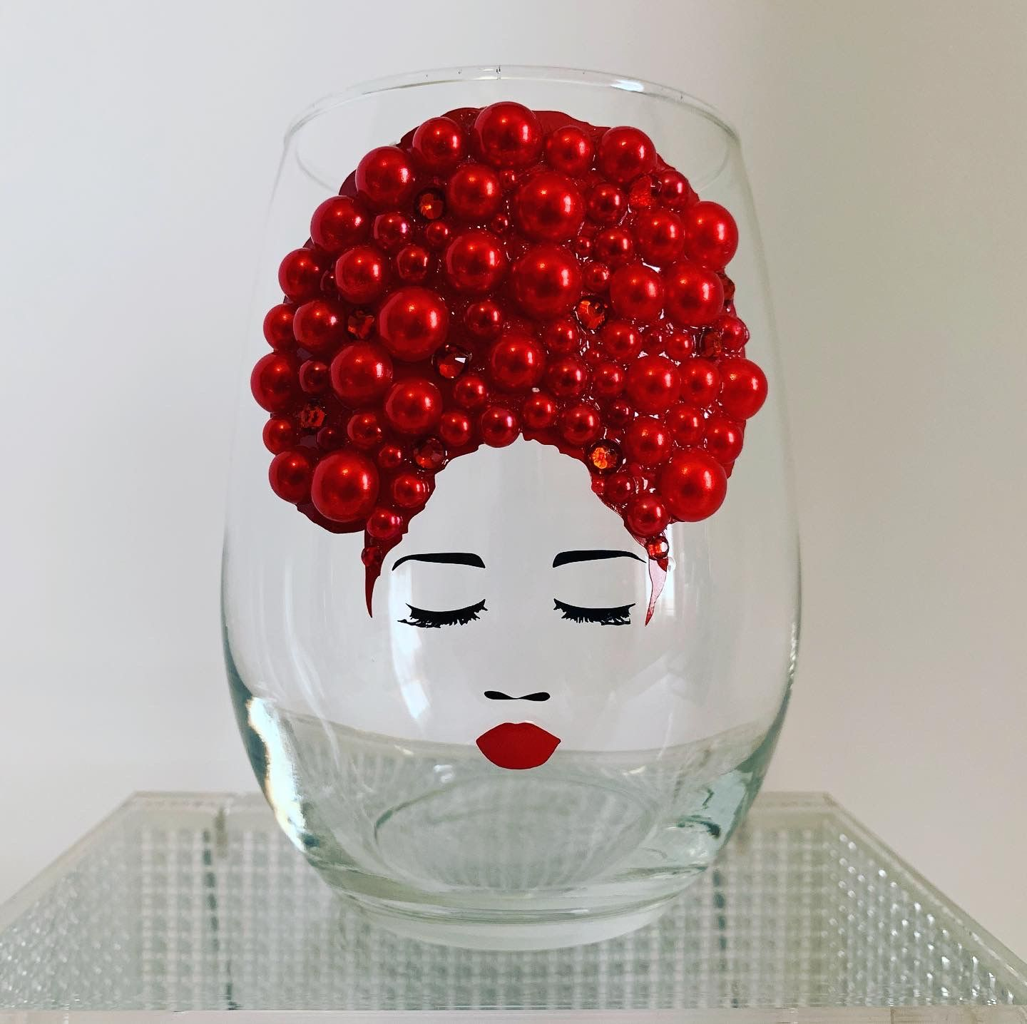 Bling Afrocentric Wine Glass Pam In 2020 Wine Glass Crafts Diy Dollar Store Crafts Wine Glass Designs