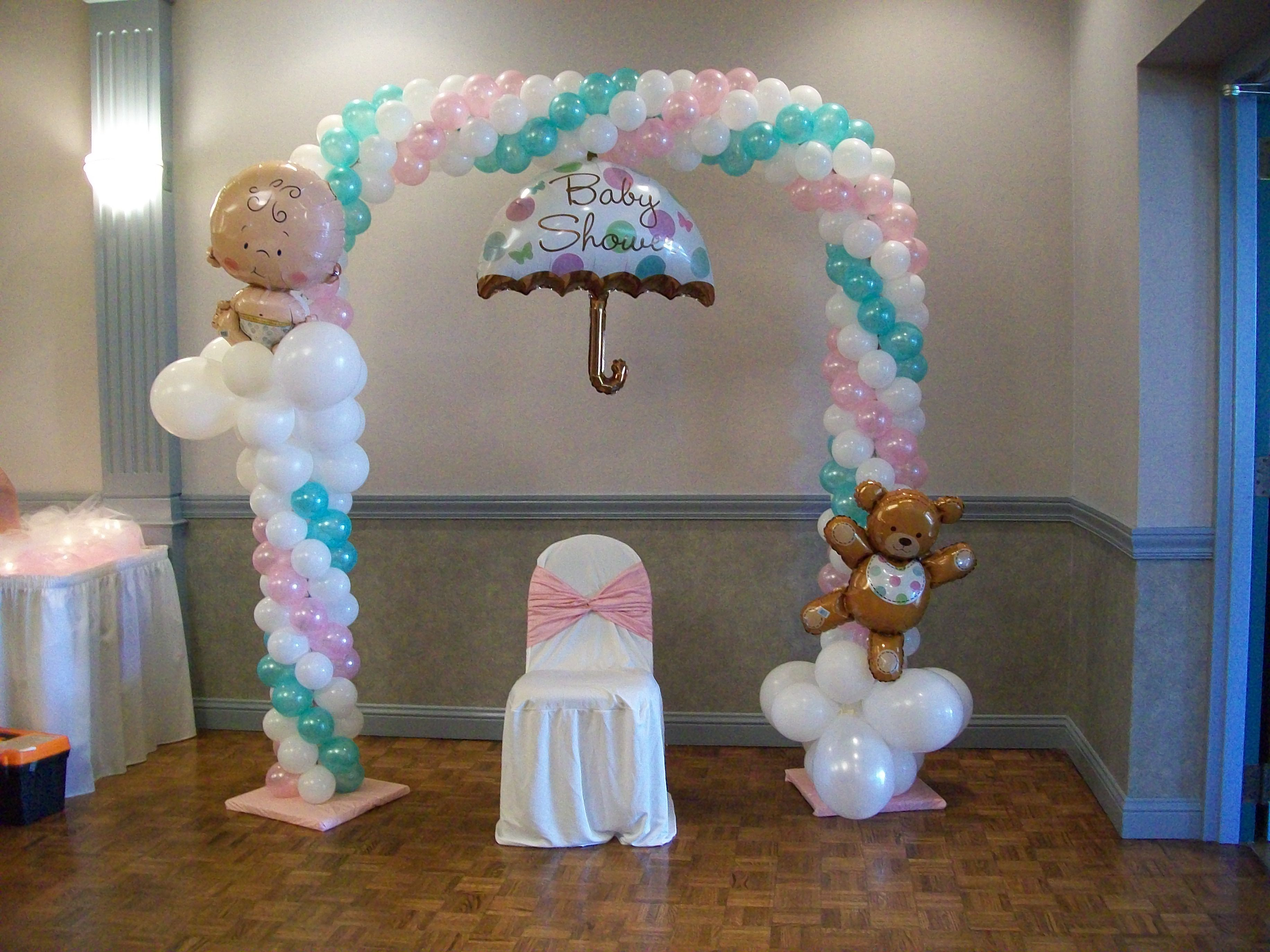 Balloon Arch For A Baby Shower Baby Shower Balloon Decorations