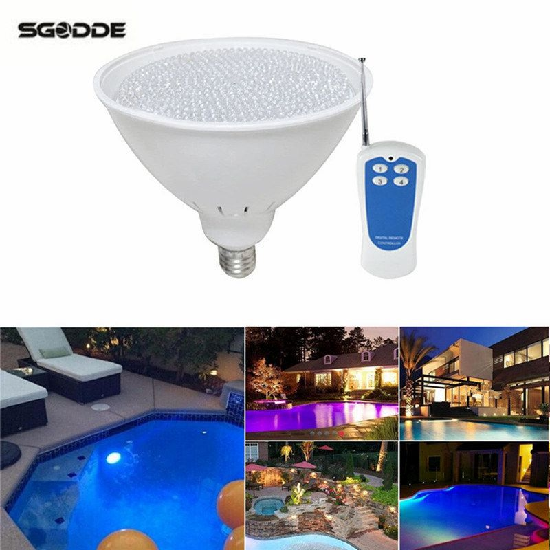 Par56 Led Pool Light Fountain 40w 12v Bulb Lamp Underwater For Swimming With Remote Control Swimming Pool Lig Swimming Pool Lights Led Pool Lighting Pool Light