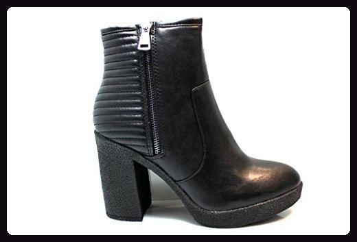 DOMINA 1023 DAMEN HIGH Heels Stiefeletten schwarz Lack