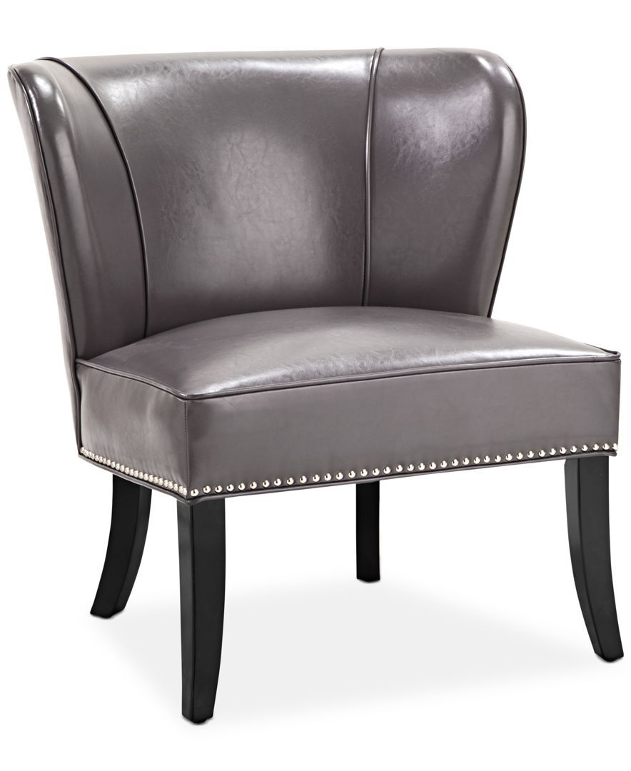 Janie Faux Leather Accent Chair Accent Chairs Chair