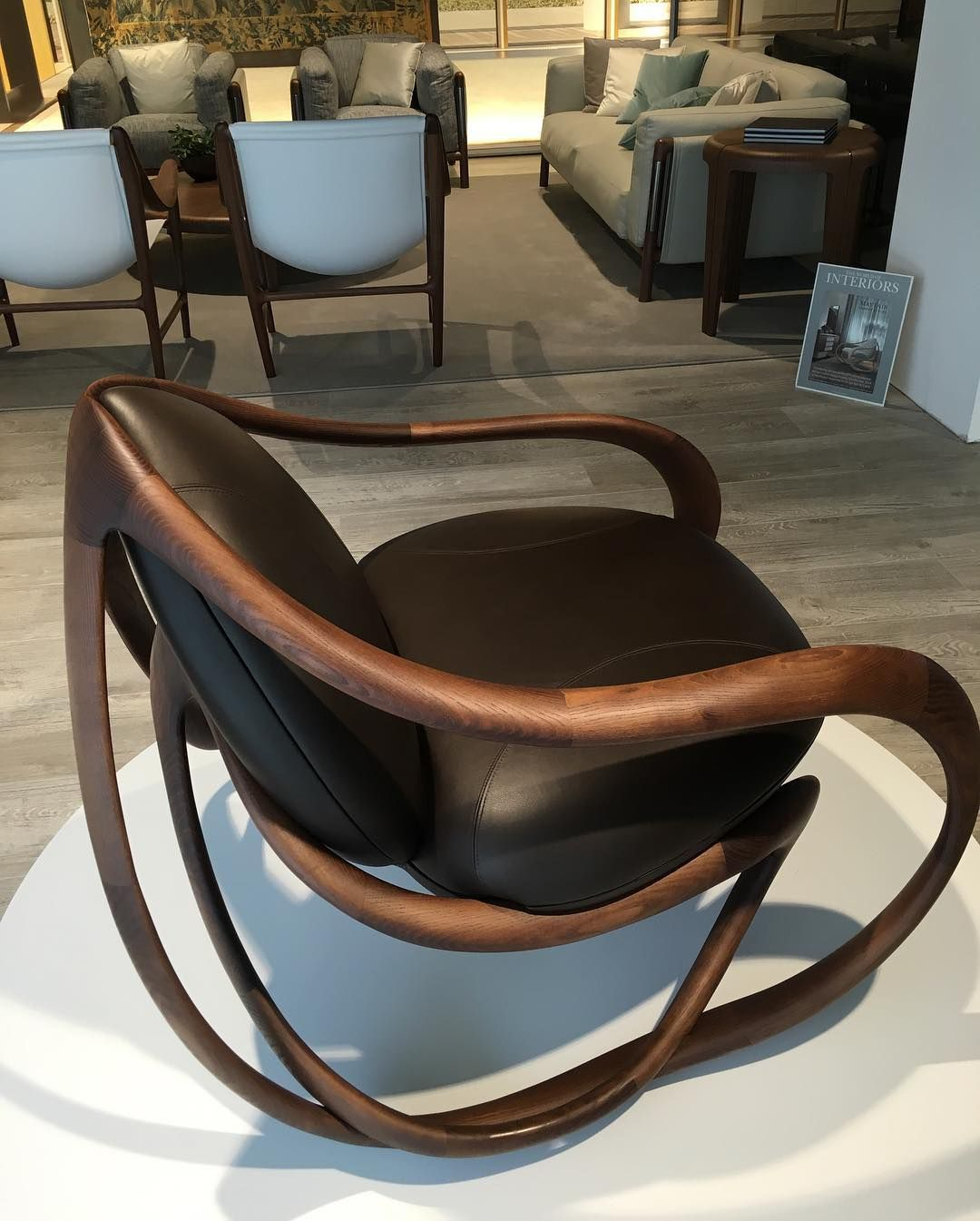 Groovy A Masterpiece In Design Giorgetti Move Rockingchair Is Squirreltailoven Fun Painted Chair Ideas Images Squirreltailovenorg