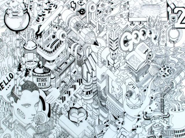"A drawing experiment to create a massive 24x36""poster, made up entirely of requests from people all over the internet."