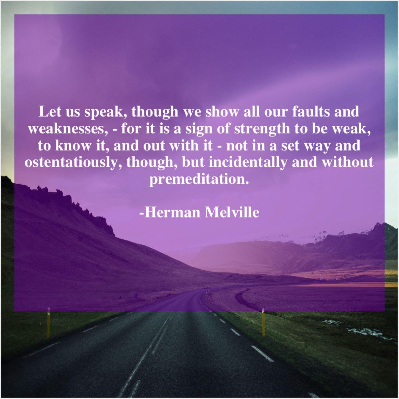 Herman Melville Let Us Speak Though We George Macdonald Old Things Thomas Carlyle