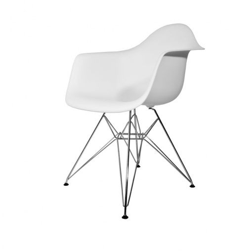 Charles Eames Style DAR White Dining Chair. MDM Furniture