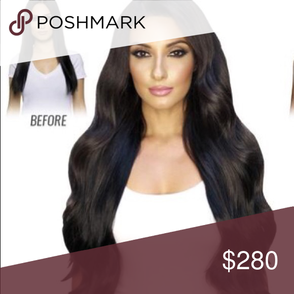 "Bellami Boo-Gatti Remy Hair Extensions Jet Black Jet Black Boogatti 22""  dark and dramatic Bellami Hair clip in hair extensions instantly transform  your hair ... d281eabe9"