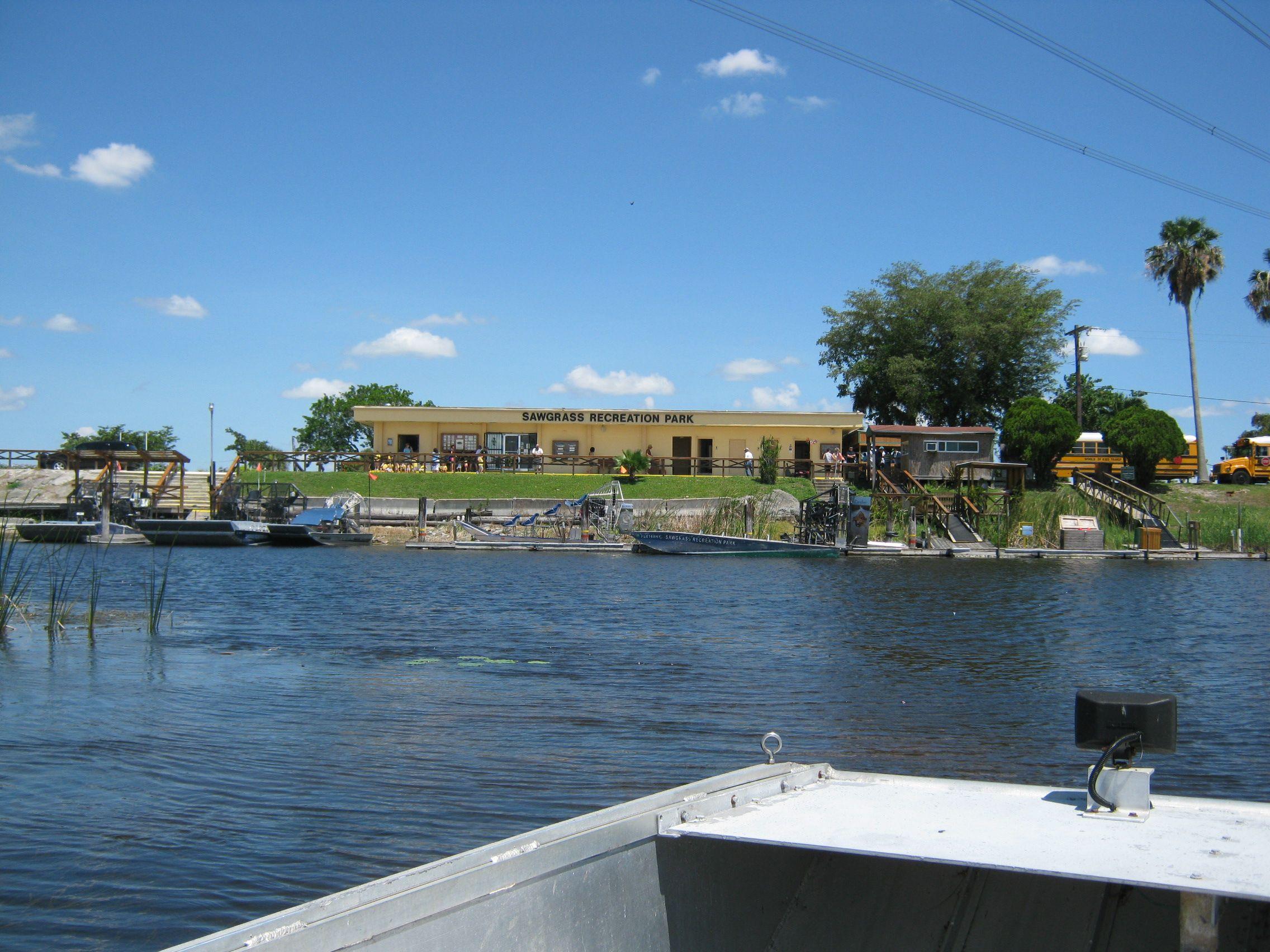 Sawgrass recreational park Air Boat Rides near Miami