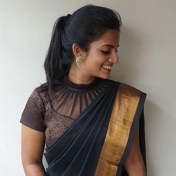 Sheer elegance of sheer blouses!