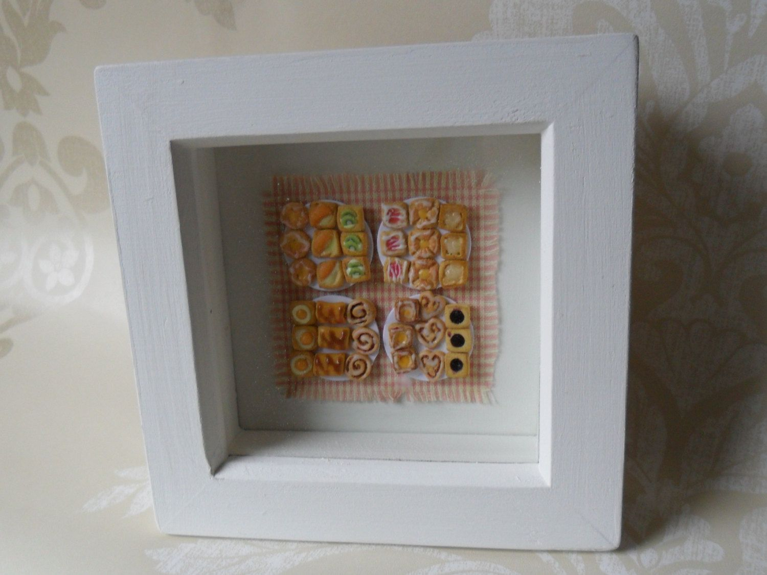 Kitchen wall decor, cookery box frame, danish pastries wall decor ...