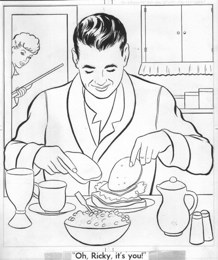 Coloring pages vintage - Free Coloring Pages Vintage I Love Lucy Coloring Page
