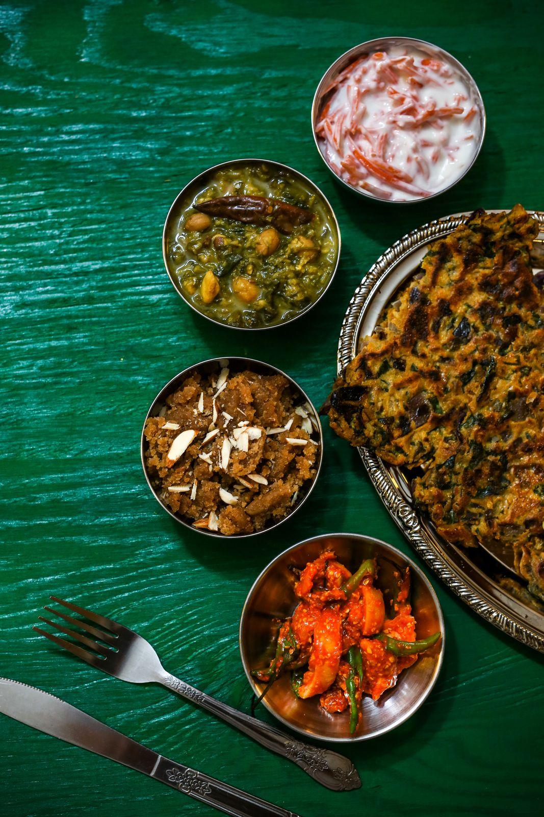 Thalipeeth ghavacha sheera shepuchi bhaji recipe food recipes forumfinder Choice Image