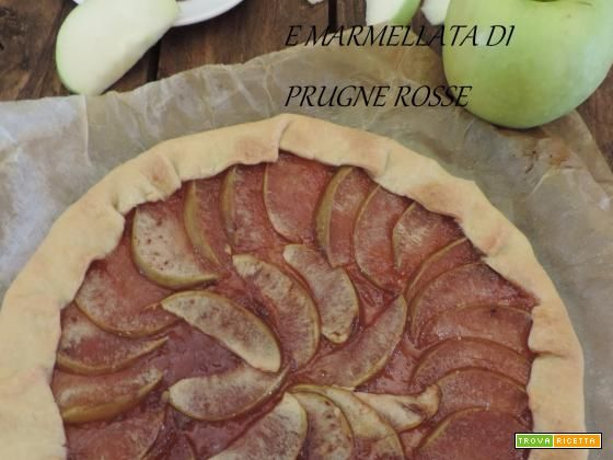 Brisèe di mele smith e marmellata di prugne rosse  #ricette #food #recipes