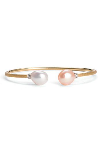 Marco Bicego 'Africa' Pearl & Diamond Bangle | Nordstrom