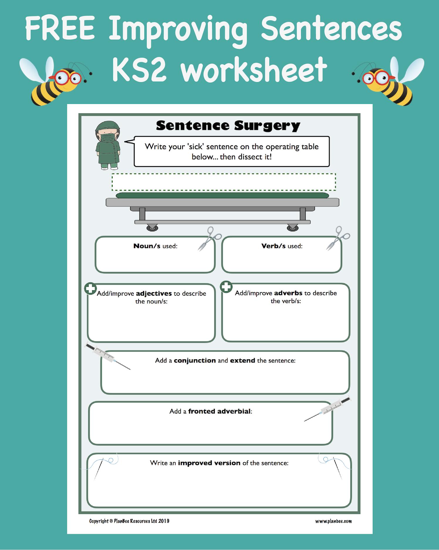 Sentence Surgery Ks2