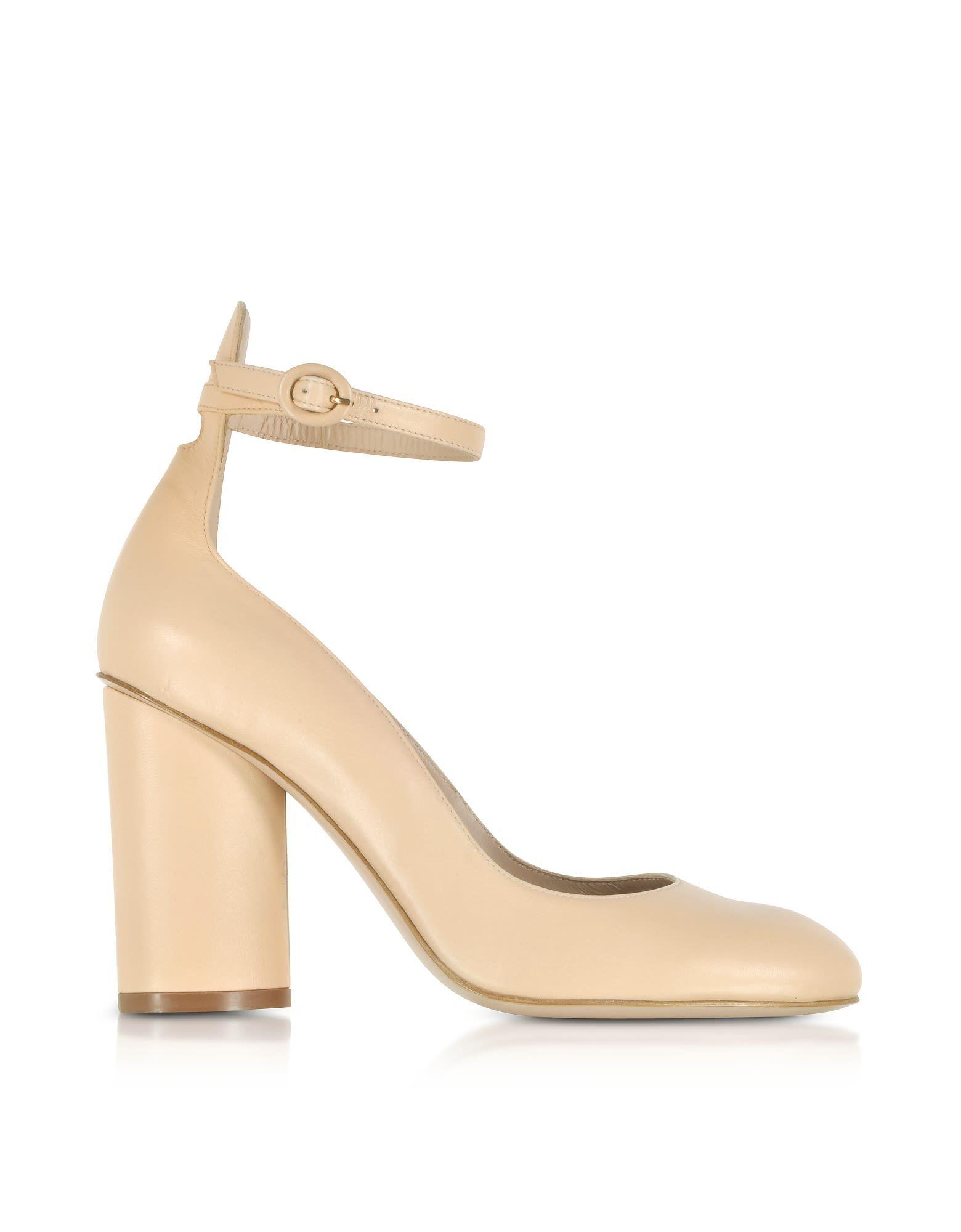 Stuart Weitzman Designer Shoes, Pasadena Leather Heel Pumps