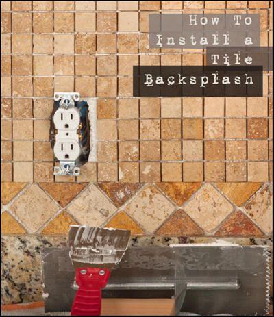 Install a classy glass tile backsplash