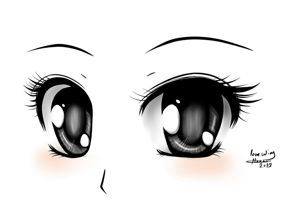 Simple anime eyes .. )) ~ Follow me on FaceBook : Flickr :