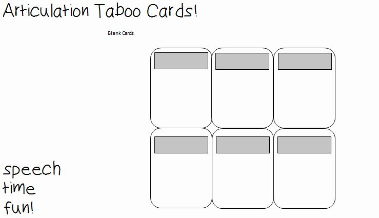 Blank Game Card Template Lovely Ipod Touch And Iphone Template Articulation Taboo Cards Taboo Cards Card Template Card Games