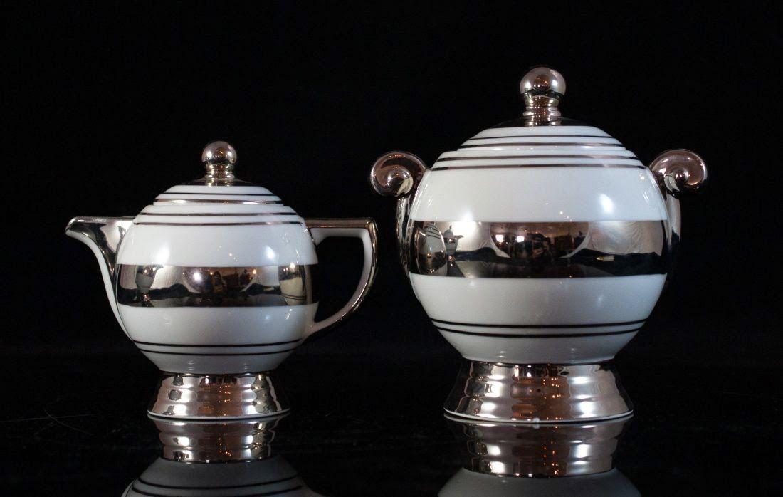 Art Deco Limoges Porcelain : TLB milk & sugar
