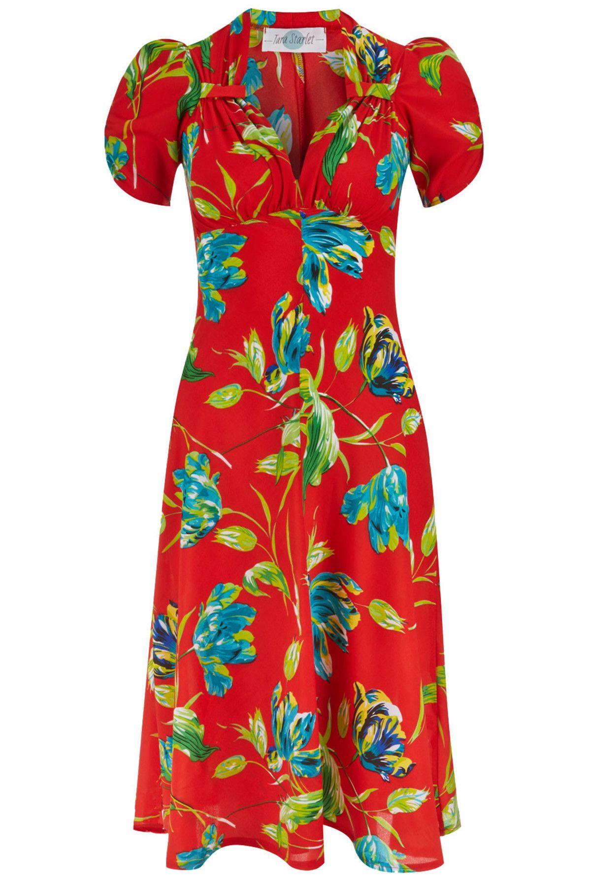 Tara Starlet 1940s 40s Style: Tara Starlet The Floral Sweetheart Dress